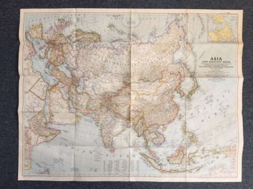 Map of Asia 1950