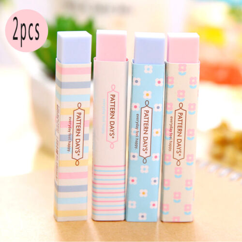 2Pcs Fashion Korean Style Students Eraser Rubber Stationery Kids Cute Gift Toy