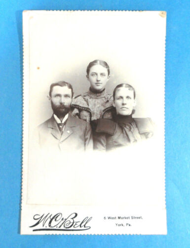 Vintage CDV of a Family Cabinet Card W.C.Bell Photographers York, PA