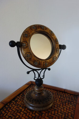 Wood Frame Table Mirror - New