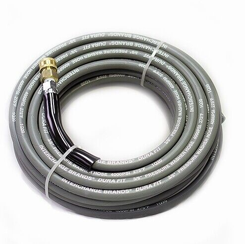 Non-Marking Pressure Washer Hose - 4000 PSI 50 ft. Length 50' Gray With Couplers <br/> Authorized Pressure Parts Dealer | Free Shipping
