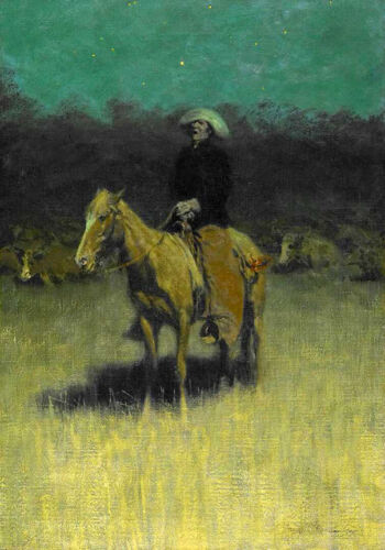 Cowpuncher's Lullaby   by Frederic Remington Giclee Canvas Print Repro