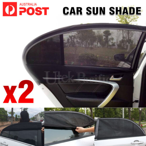 2x Side Rear Seat Window Mesh Sun Shade Car Window Socks Baby Kid UV Protection