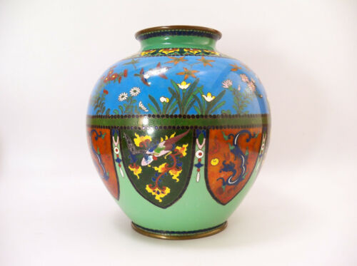 Fine Japanese Antique Cloisonne Vase Jar