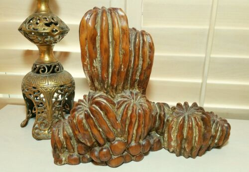 RARE, HAND CARVED CACTUS FAMILY, ARTISAN SCULPTED IN SPAIN
