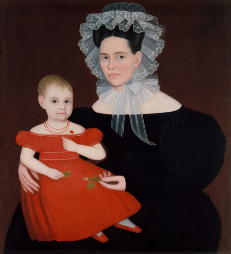 Mrs. Mayer and Daughter  by Ammi Phillips  Giclee Canvas Print Repro