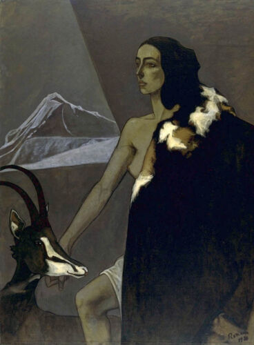 Chasseress  by Romaine Brooks  Giclee Canvas Print Repro
