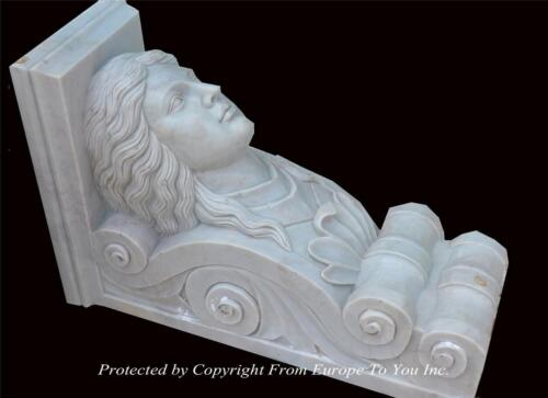 BEAUTIFUL HAND CARVED MARBLE FIGURAL CORBELS - MC56