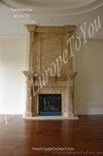 BEAUTIFUL HAND CARVED MARBLE FIREPLACE MANTEL FPM69