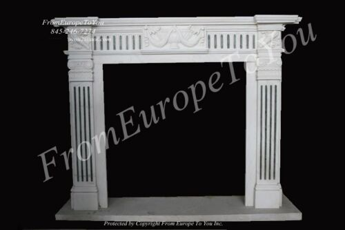 NICE HAND CARVED MARBLE FIREPLACE MANTEL #MBY078