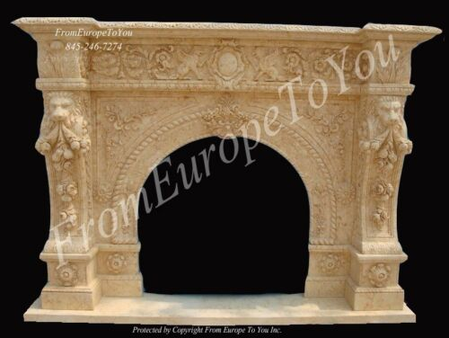 NICE HAND CARVED MARBLE FIREPLACE MANTEL FGD034