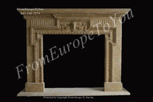 BEAUTIFUL HAND CARVED MARBLE FIREPLACE MANTEL