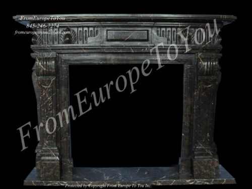 HAND CARVED MARBLE CLASSICAL FIREPLACE MANTEL TLE4
