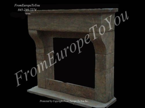 BEAUTIFUL ANTIQUE STONE STYLE  FIREPLACE MANTEL JS284