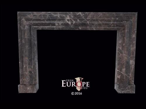 BEAUTIFUL HAND CARVED COFFEE MARBLE ART DECO FIREPLACE MANTEL - TF25