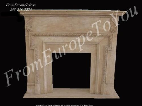 HAND CARVED MARBLE CLASSIC FIREPLACE MANTEL SS2