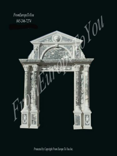 MONUMENTAL HAND CARVED MARBLE ENTRY WAY ME65