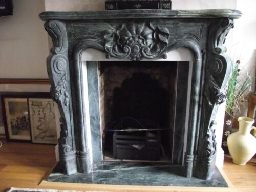 BEAUTIFUL HAND CARVED MARBLE FIREPLACE MANTEL- TL016