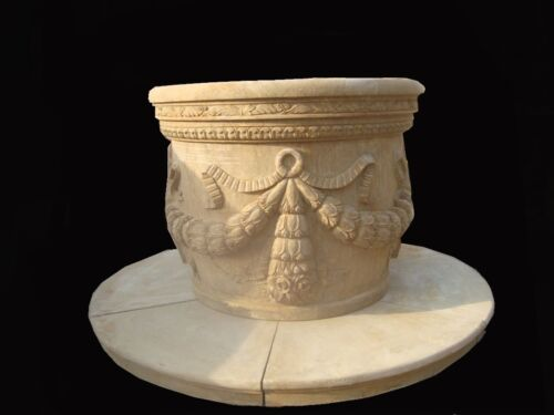 HAND CARVED ANTIQUE STONE EUROPEAN STYLE WELL HEAD WH1