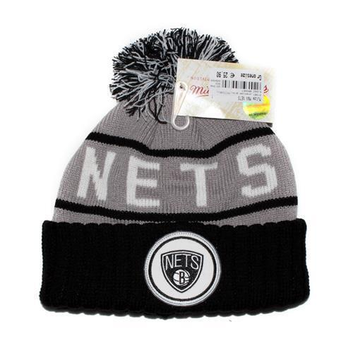 Mitchell & Ness Brooklyn Nets Cappello Invernale a Palloncino Beanie 91981
