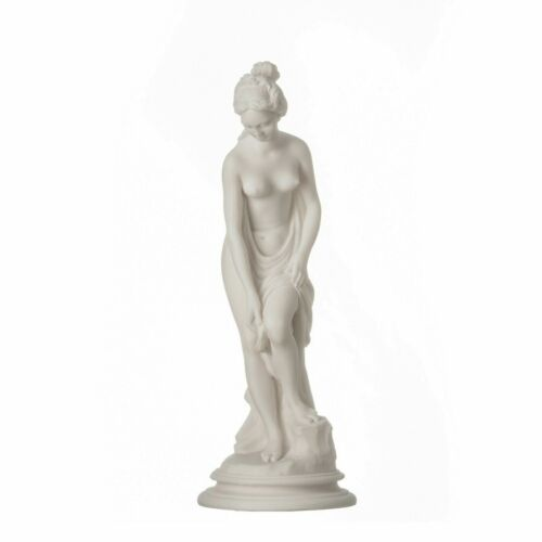 Helen Of Troy Sparta  Nude Naked Female Figure Alabaster Statue Sculpture 9""