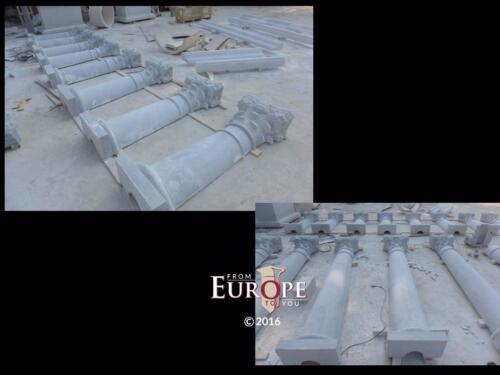 BEAUTIFUL HAND CARVED MARBLE PILLARS FOR A DISCOVERY CHANNEL PROJECT - ZCTH6
