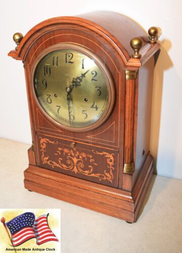 RARE PRE SETH THOMAS SONORA CHIME CO 10 BELL SONORA 1904 ANTIQUE CABINET CLOCK