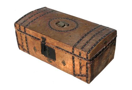 Antique Cowhide Covered Box