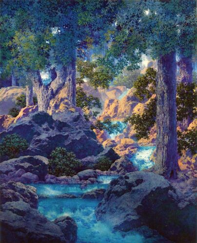 Good Fishing  by Maxfield Parrish   Giclee Canvas Print Repro