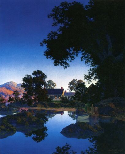 Peace of Evening  by Maxfield Parrish   Giclee Canvas Print Repro