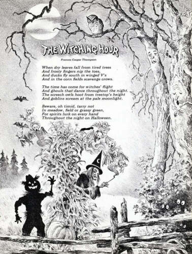 """Halloween Poem """"The Witching Hour"""" by Francis Cooper Thompson"""