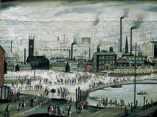 An Industrial Town  by LS Lowry   Giclee Canvas Print Repro