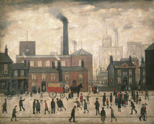 Coming Home from the Mill  by LS Lowry   Giclee Canvas Print Repro