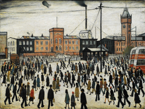 Going to Work  by LS Lowry   Giclee Canvas Print Repro