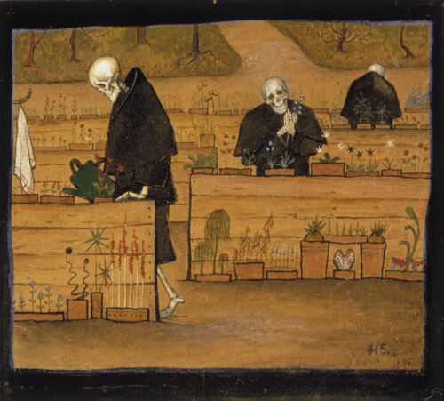 The Garden of Death by Hugo Simberg   Giclee Canvas Print Repro