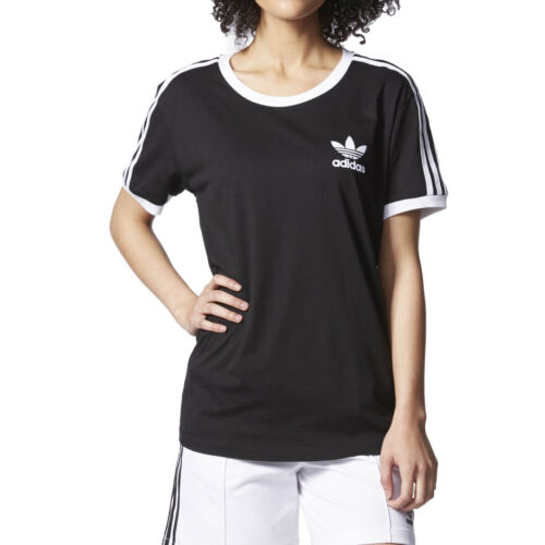 Adidas Originals 3-Stripes Women's T-Shirt Black/White ay4619
