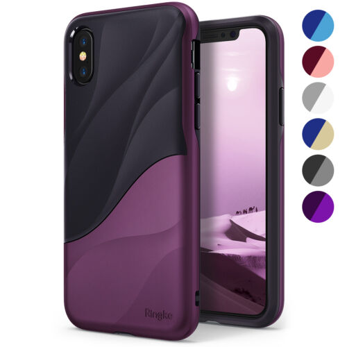 For iPhone X / XS   Ringke [WAVE] Shockproof PC TPU Dual Layer Design Case Cover