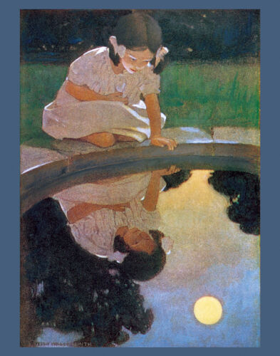 """Looking at the Moon's...  by Jessie Wilcox Smith  20"""" Paper Print  Repro"""