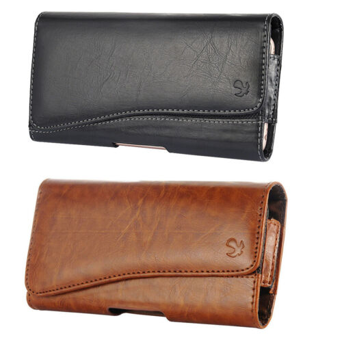 Cell Phones Pouch Case Horizontal Leather Holster Carrying Cover With Belt Clip