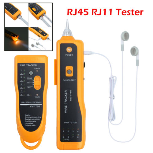 MS6812 Cable Finder Tone Generator Probe Tracker Wire Network Tester Tracer Set