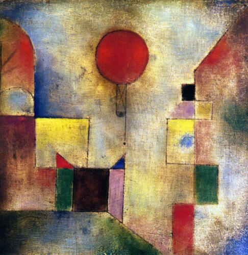 Red Balloon  by Paul Klee   Giclee Canvas Print Repro