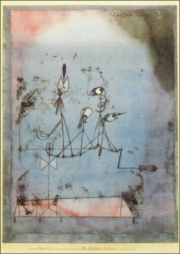 Twittering Machine  by Paul Klee  Giclee Canvas Print Repro