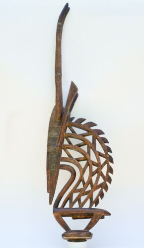 African Bambara Bamana headdress Chiwara Antelope carved wood Mali tribal art