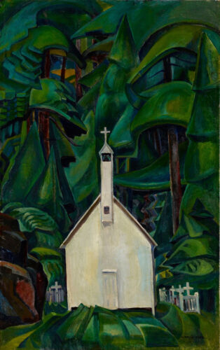 Indian Church  by Emily Carr   Giclee Canvas Print Repro