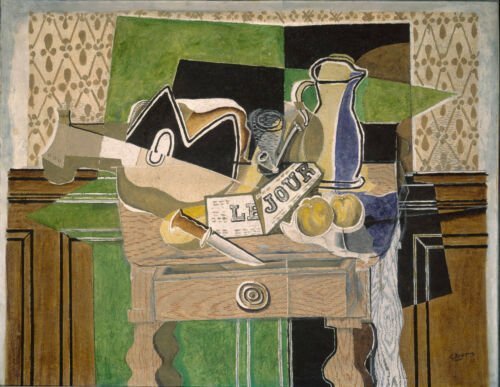 Still Life le Jour  by Georges Braque  Giclee Canvas Print Repro