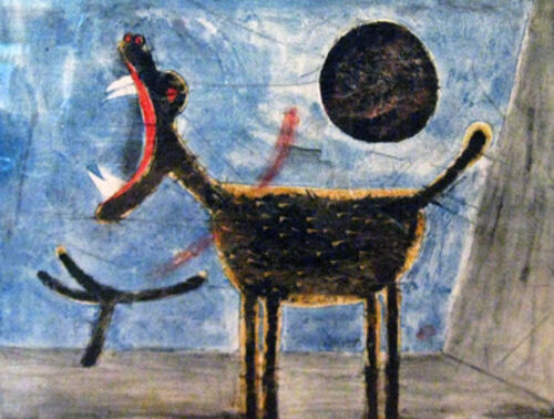 Howling Dog  by Rufino Tamayo  Giclee Canvas Print Repro