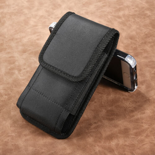 Case for iPhone 11 Pro Max Vertical Holster Pouch Nylon Cover with Belt Clip