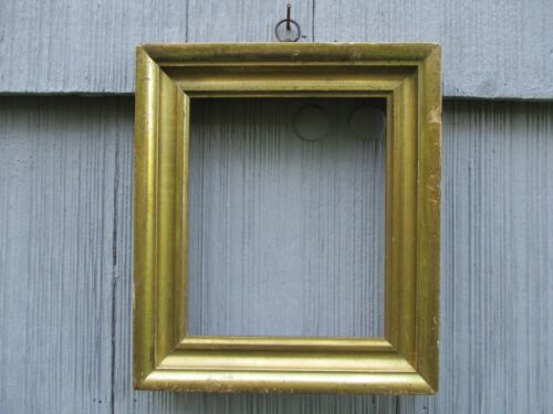 Antique 19th-Century Gilded Lemon Picture Frame w/ Hanging Ring fits 6-3/4 x 8