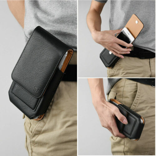 Leather Pouch Carrying Case with Swivel Belt Clip Pouch for iPhone Xs Max 8 Plus