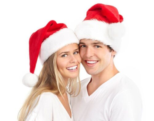 Kids& Adult Soft Plush Ultra Thick Santa Claus Christmas Cap Hat Classic Red